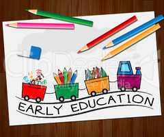Early Education Means Kids School 3d Illustration