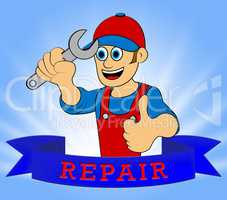 House Repair Displays Fix House 3d Illustration