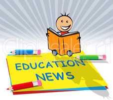 Education News Displays Social Media 3d Illustration