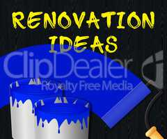 Renovation Ideas Displays House Improvement Tips 3d Illustration