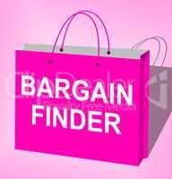 Bargain Finder Displays Internet Comparison 3d Illustration