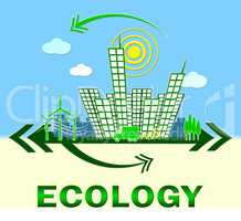 Ecology Showing Earth Day Environment 3d Illustration