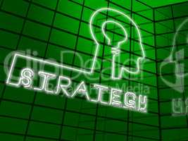 Strategy Lightbulb Indicating Planning Commerce 3d Illustration