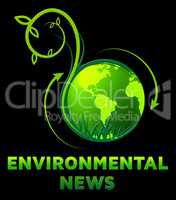Environmental News Shows Eco Publication 3d Illustration