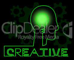 Creative Brain Shows Ideas Imagination And Concepts