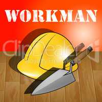 Workman Laborer Representing Building Worker 3d Illustration