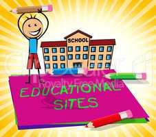 Educational Sites Shows Learning Websites 3d Illustration