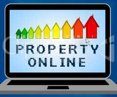 Property Online Representing Real Estate 3d Illustration