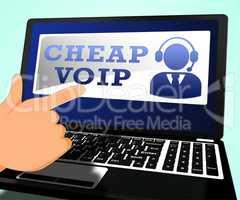 Cheap Voip Shows Internet Voice 3d Illustration