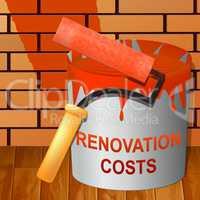 Renovation Costs Showing House Remodeler 3d Illustration