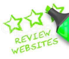 Review Websites Means Site Performance 3d Illustration