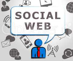Social Web Meaning Online Forums 3d Illustration
