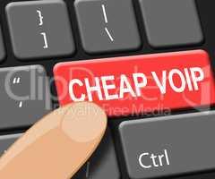 Cheap Voip Key Shows Internet Voice 3d Illustration