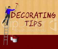 Decorating Tips Shows Decoration Advice 3d Illustration