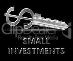 Small Investments Meaning Low Cost Investing 3d Illustration