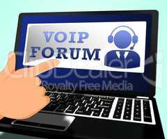 Voip Forum Means Internet Voice 3d Illustration