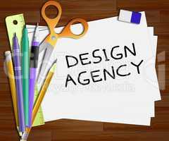 Design Agency Means Creative Artwork 3d Illustration
