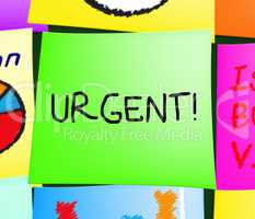 Urgent Note Displays Immediate Priority 3d Illustration