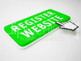 Register Website Indicates Domain Application 3d Rendering