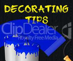 Decorating Tips Showing Displays Advice 3d Illustration