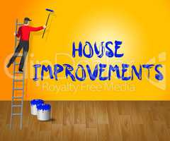 House Improvements Indicates Home Renovation 3d Illustration