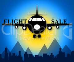 Flight Sale Means Low Cost Flights 3d Illustration