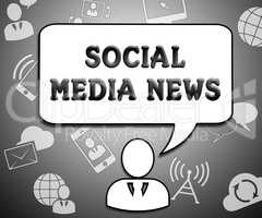 Social Media News Means Online Info 3d Illustration