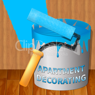 Apartment Decorating Means Condo Decoration 3d Illustration