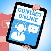 Contact Online Tablet Means Customer Service 3d Illustration