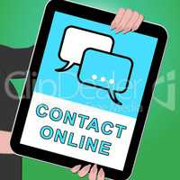 Contact Online Tablet Meaning Customer Service 3d Illustration