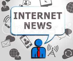 Internet News Meaning Online Info 3d Illustration