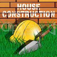 House Construction Represents Home Building 3d Illustration