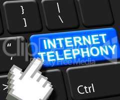 Internet Telephony Key Voice Broadband 3d Illustration