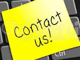 Contact Us Represents Customer Service 3d Illustration