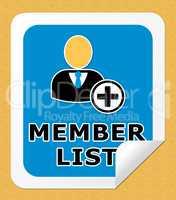 Member List Means Subscription Listing 3d Illustration
