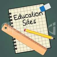 Educational Sites Paper Representing Learning Sites 3d Illustrat