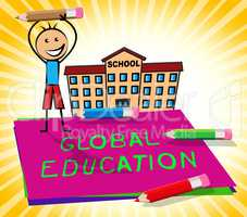 Global Education Displays World Learning 3d Illustration