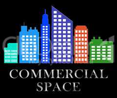 Commercial Space Describes Real Estate Sale 3d Illustration