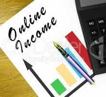 Online Income Meaning Internet Revenue 3d Illustration