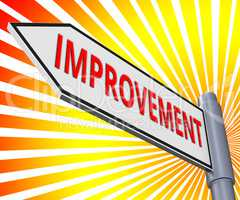 Improvement Sign Meaning Progress Growth 3d Illustration