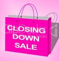 Closing Down Sale Shows Closing Bargains 3d Illustration