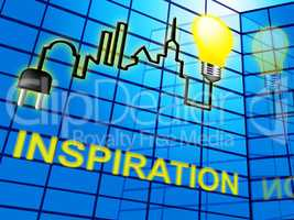 Inspiration Word Indicates Inspire Action 3d Illustration
