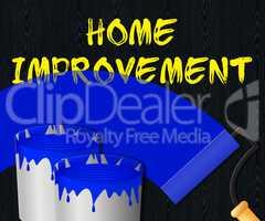 Home Improvement Displays House Renovation 3d Illustration