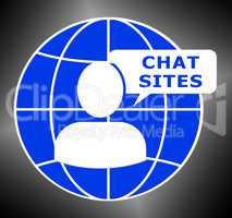 Chat Sites Logo Means Discussion 3d Illustration