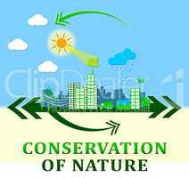 Conservation Of Nature Means Conserve 3d Illustration