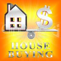 House Buying Meaning Real Estate 3d Illustration