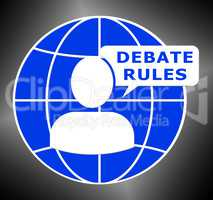 Debate Rules Shows Dialog Guide 3d Illustration