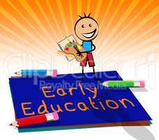 Early Education Displays Kids School 3d Illustration