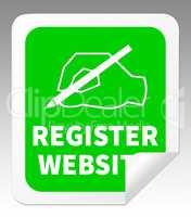 Register Website Indicating Domain Application 3d Illustration