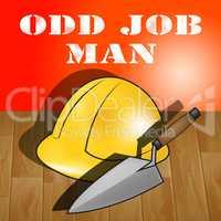 Odd Job Man Represents House Repair 3d Illustration